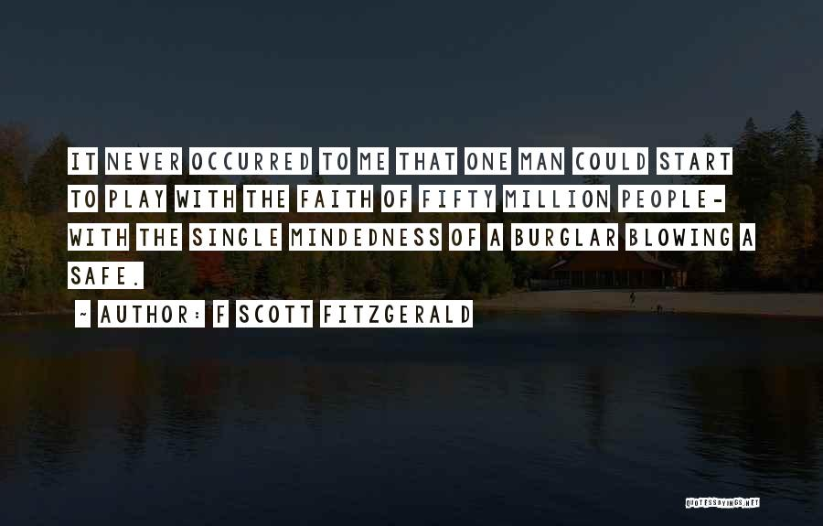Burglar Quotes By F Scott Fitzgerald