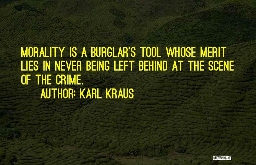 Burglar Quotes By Karl Kraus