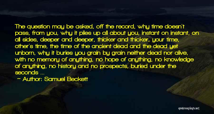 Buried Alive Quotes By Samuel Beckett
