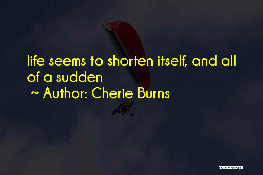 Burns Quotes By Cherie Burns