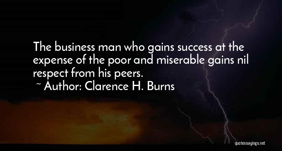 Burns Quotes By Clarence H. Burns