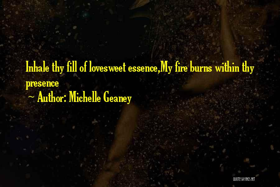 Burns Quotes By Michelle Geaney