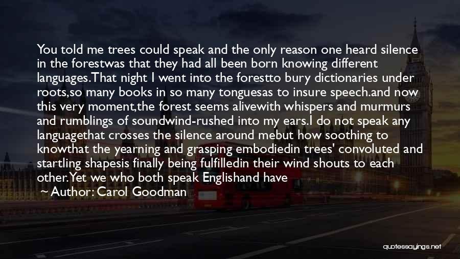 Bury Me A G Quotes By Carol Goodman