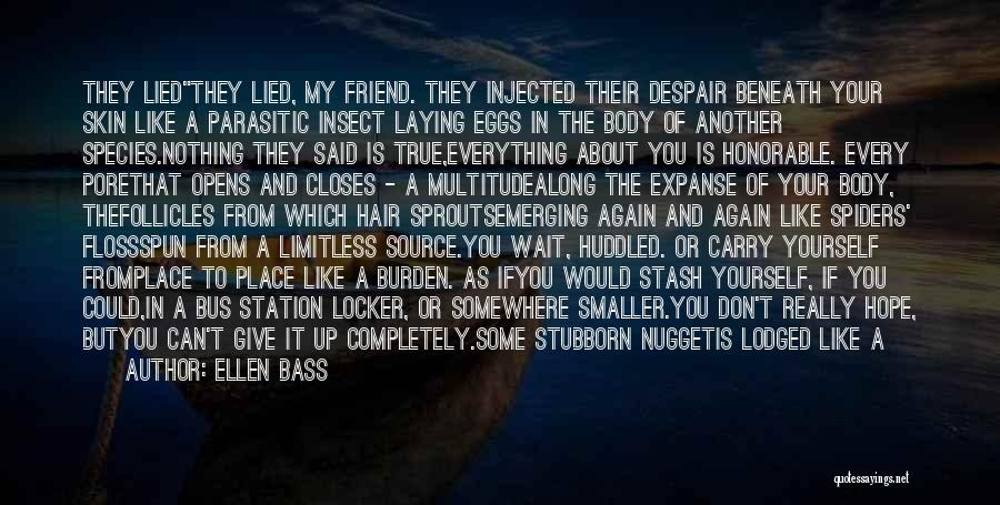 Bus Station Quotes By Ellen Bass