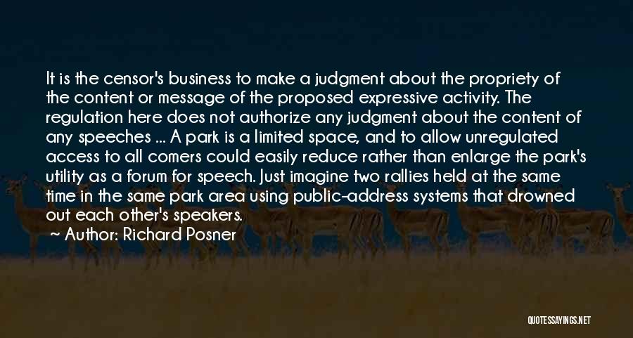 Business And It Quotes By Richard Posner