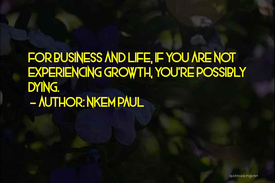Business And Personal Life Quotes By Nkem Paul