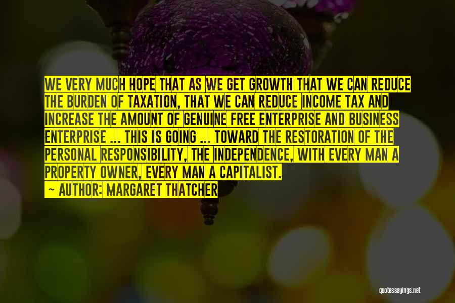 Business Growth Quotes By Margaret Thatcher