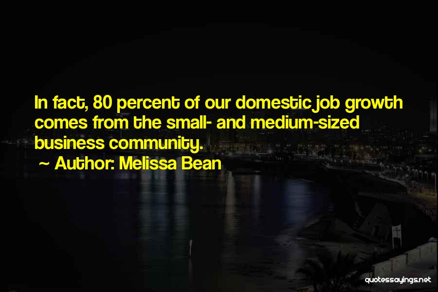 Business Growth Quotes By Melissa Bean