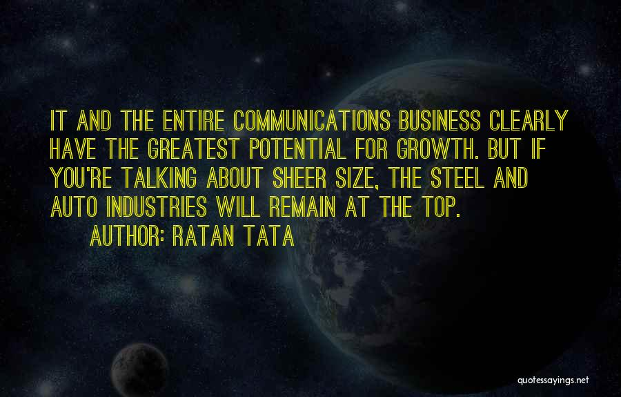 Business Growth Quotes By Ratan Tata