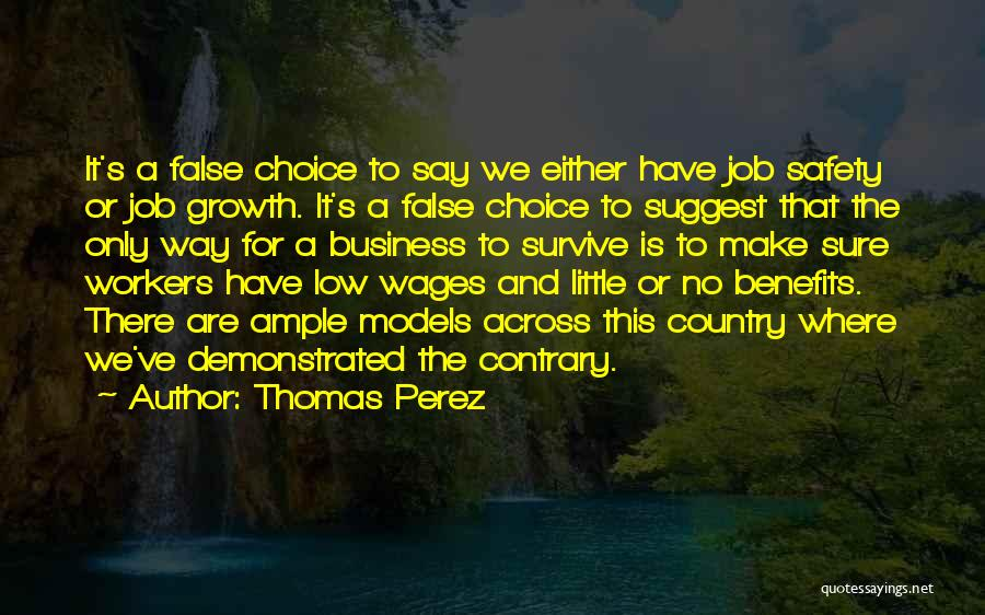 Business Growth Quotes By Thomas Perez