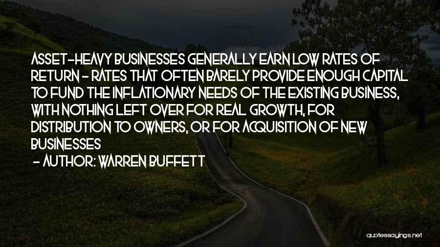 Business Growth Quotes By Warren Buffett