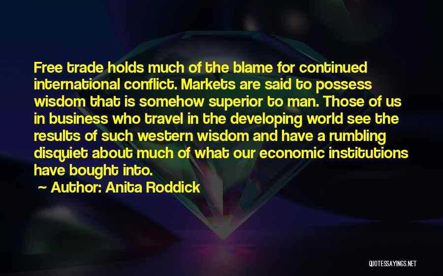 Business Results Quotes By Anita Roddick