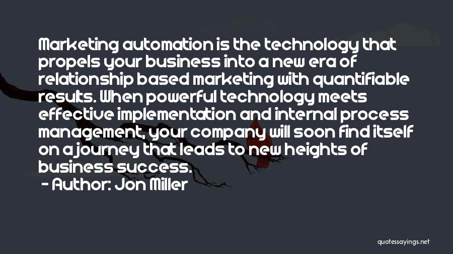 Business Results Quotes By Jon Miller