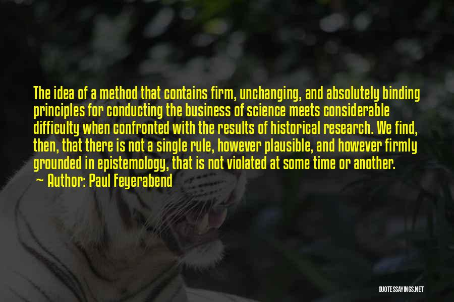 Business Results Quotes By Paul Feyerabend