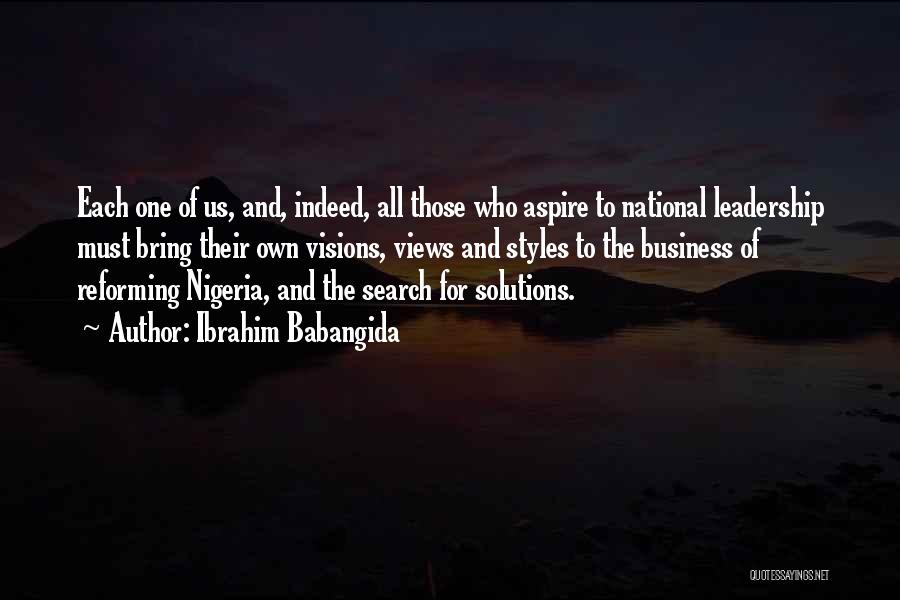 Business Solutions Quotes By Ibrahim Babangida