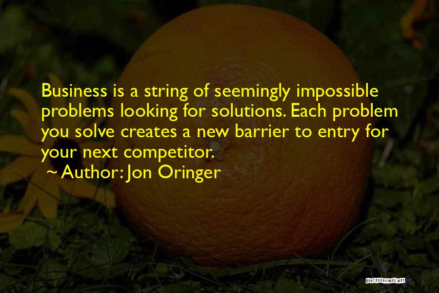 Business Solutions Quotes By Jon Oringer