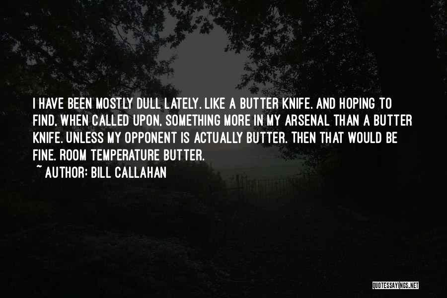 Butter Knife Quotes By Bill Callahan