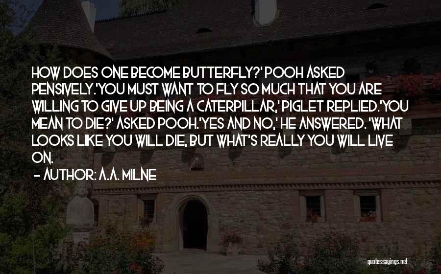 Butterfly And Caterpillar Quotes By A.A. Milne