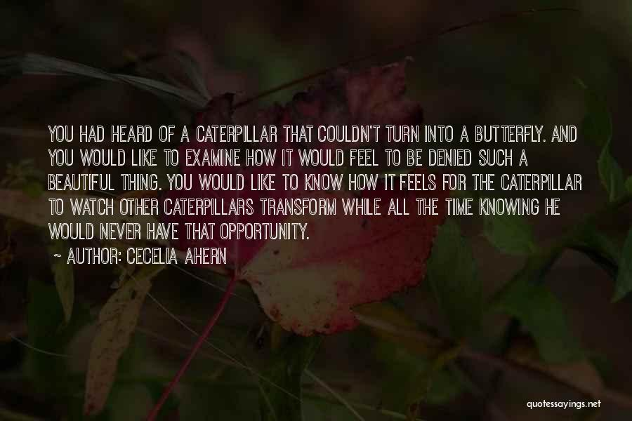 Butterfly And Caterpillar Quotes By Cecelia Ahern
