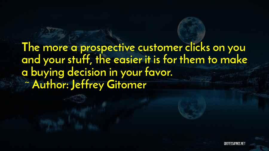 Buying Stuff Quotes By Jeffrey Gitomer