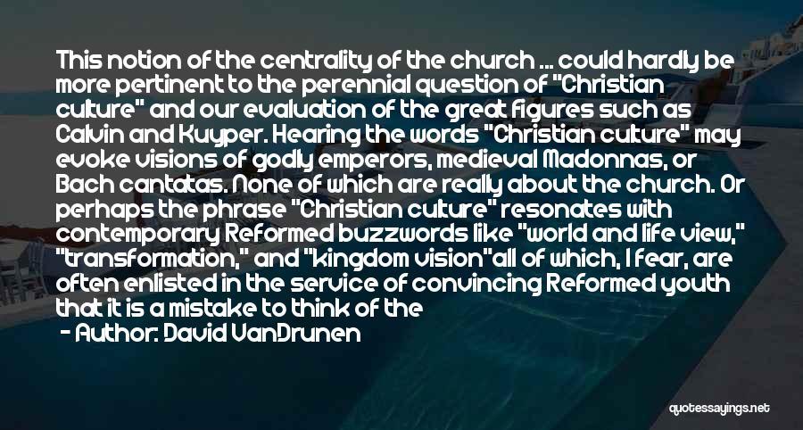 Buzzwords Quotes By David VanDrunen