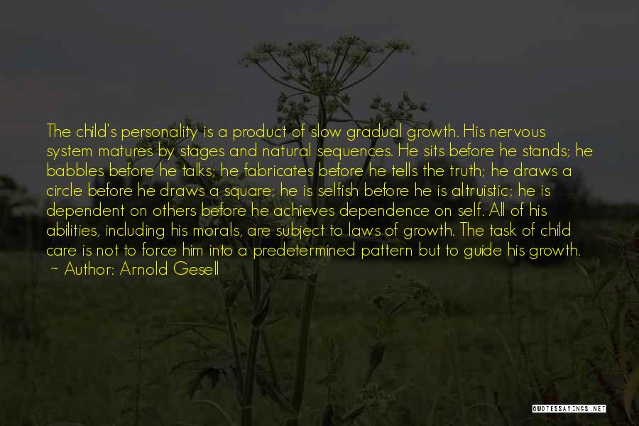 By Product Quotes By Arnold Gesell