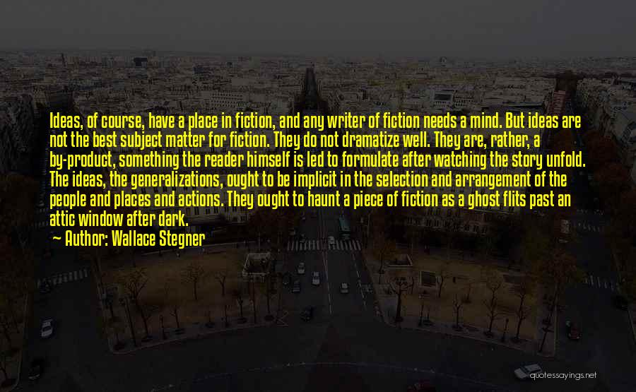 By Product Quotes By Wallace Stegner
