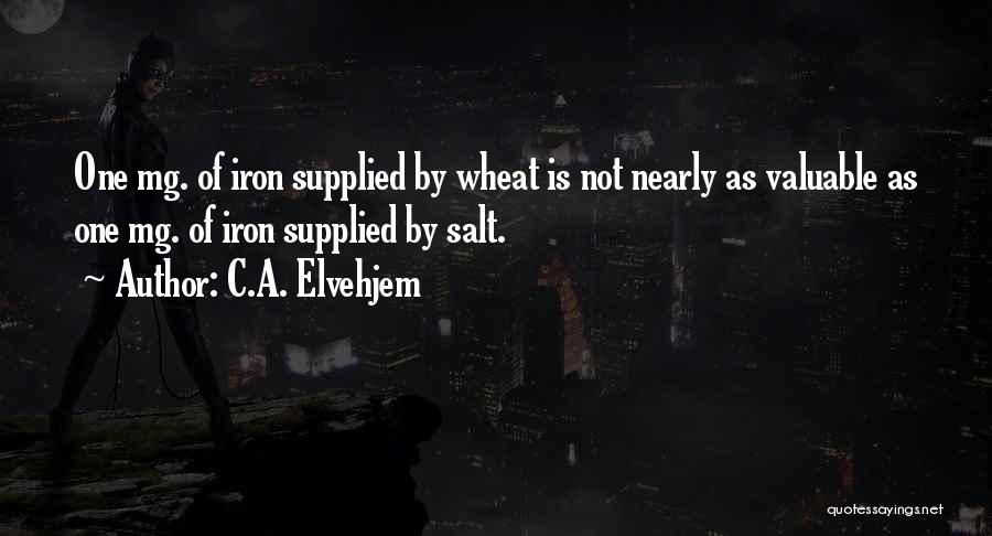 C.A. Elvehjem Quotes 177266