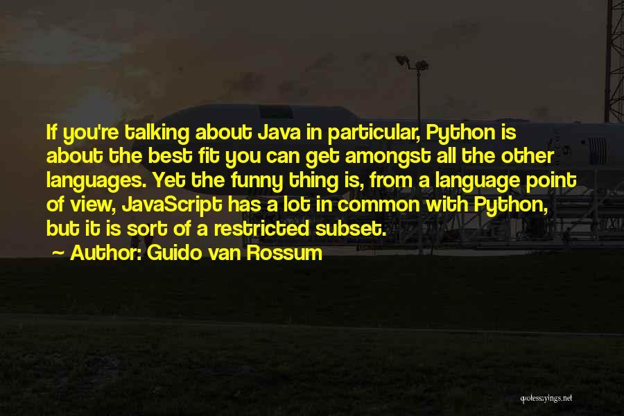 C Language Funny Quotes By Guido Van Rossum