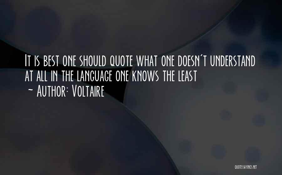 C Language Funny Quotes By Voltaire