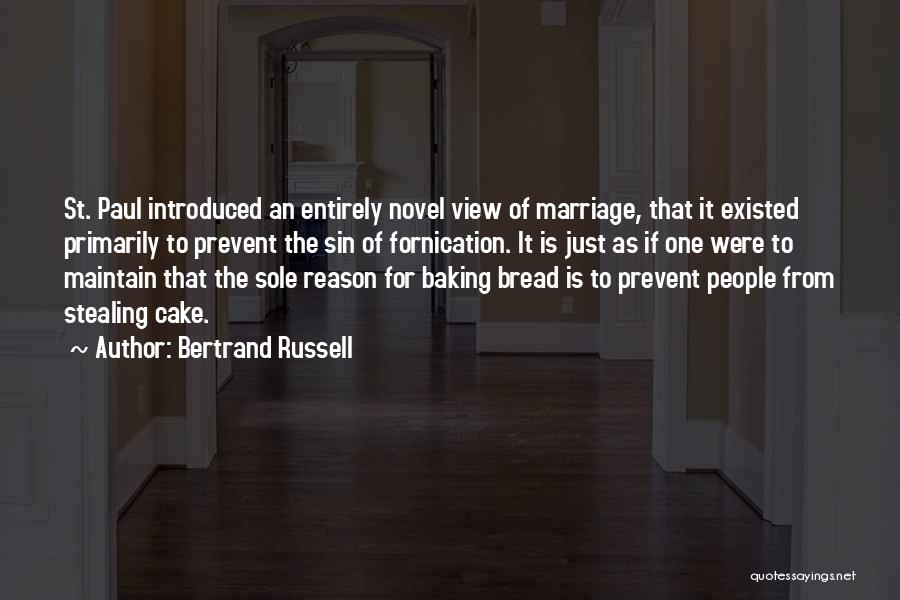 Cake And Marriage Quotes By Bertrand Russell