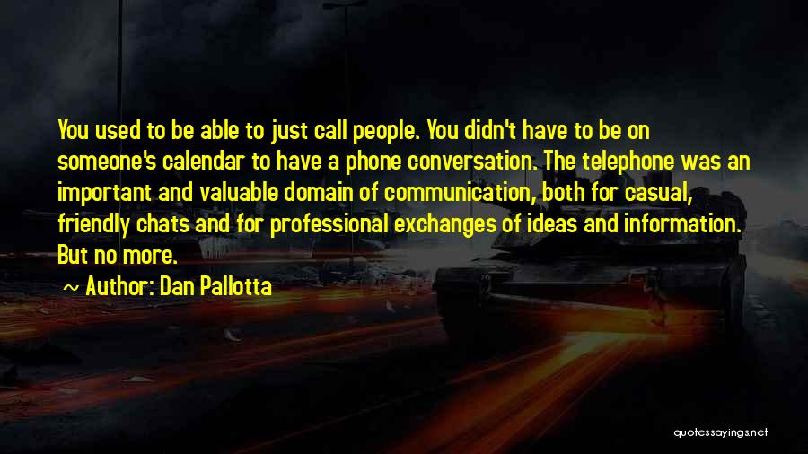 Calendar Quotes By Dan Pallotta