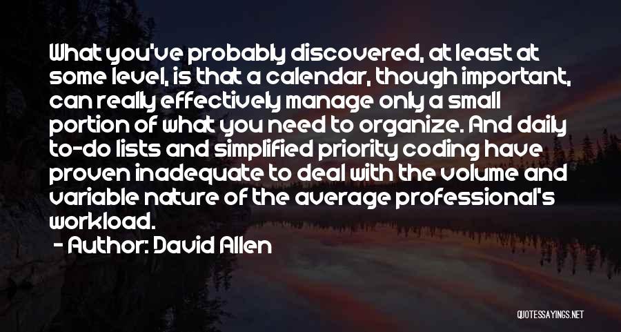 Calendar Quotes By David Allen