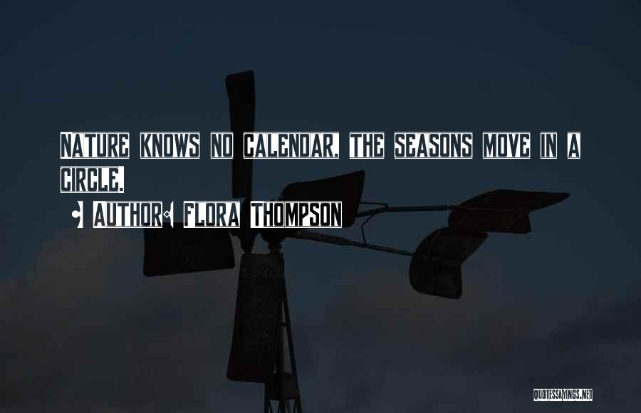 Calendar Quotes By Flora Thompson