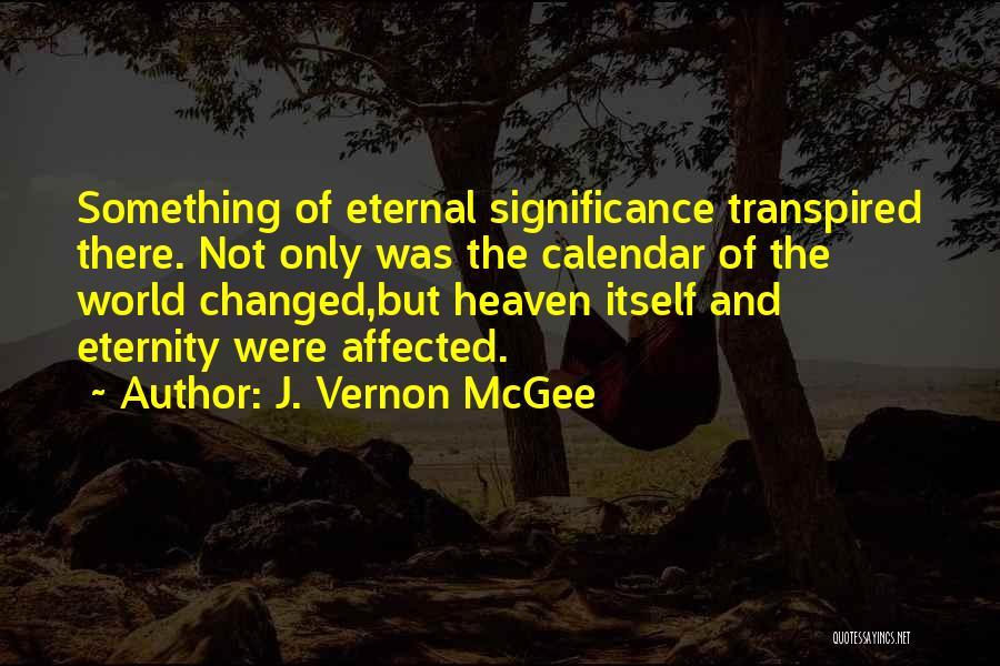 Calendar Quotes By J. Vernon McGee