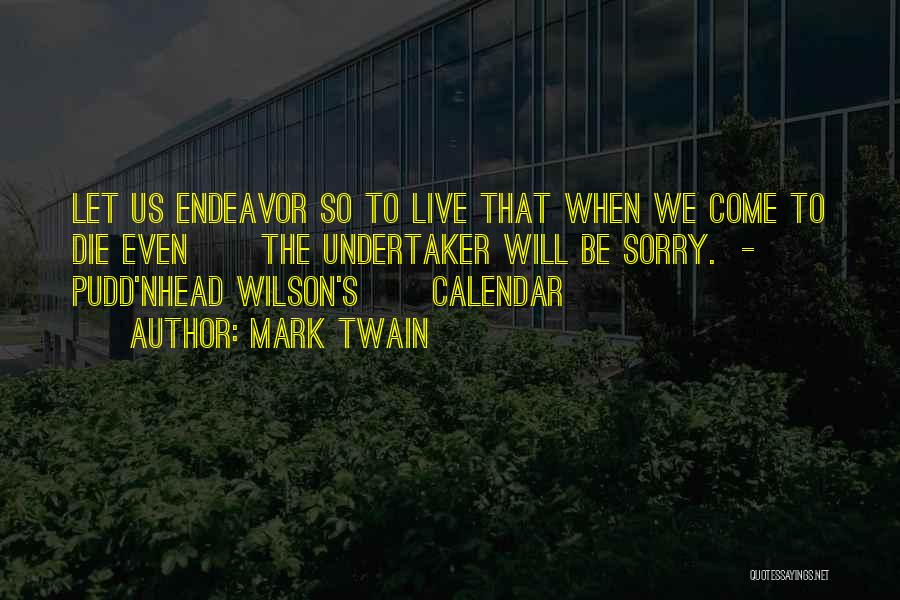 Calendar Quotes By Mark Twain