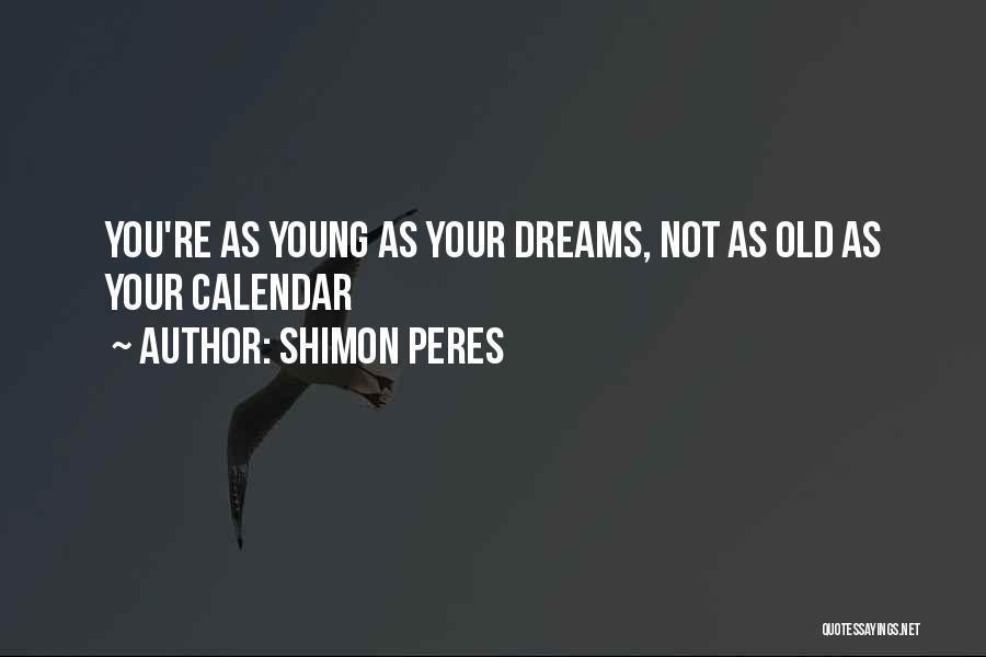 Calendar Quotes By Shimon Peres