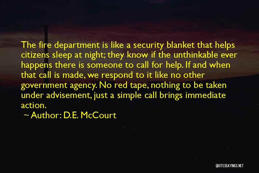 Call For Action Quotes By D.E. McCourt