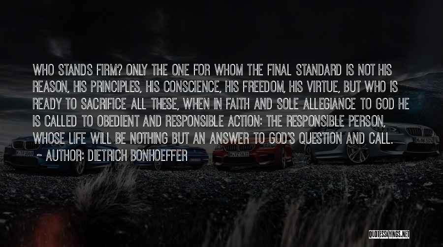 Call For Action Quotes By Dietrich Bonhoeffer