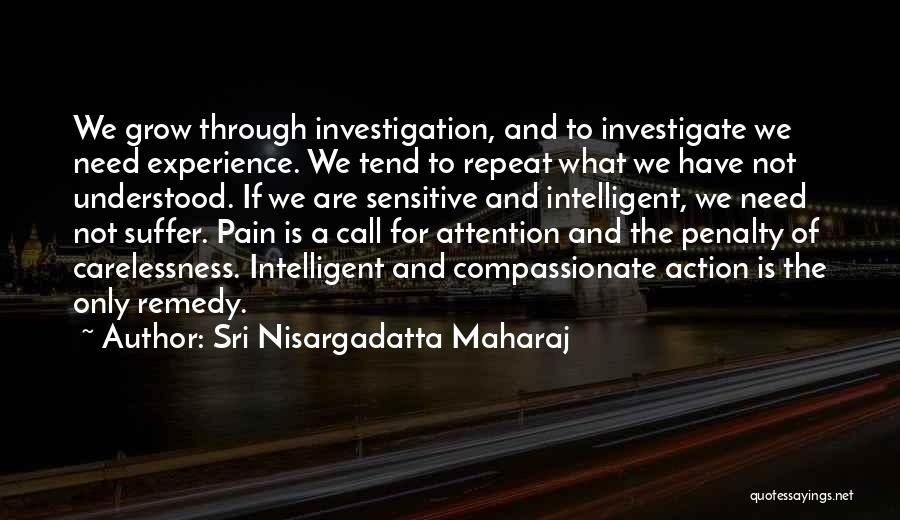Call For Action Quotes By Sri Nisargadatta Maharaj