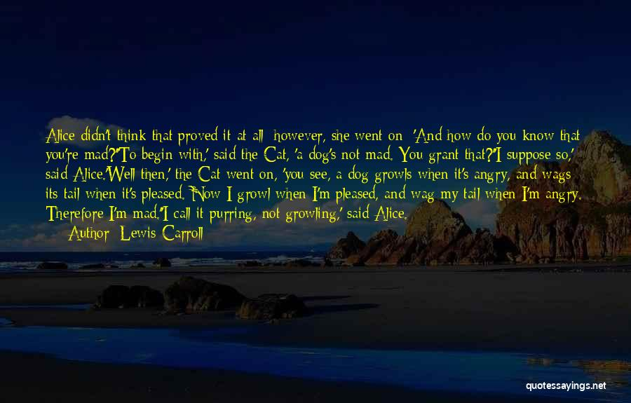 Call It How I See It Quotes By Lewis Carroll