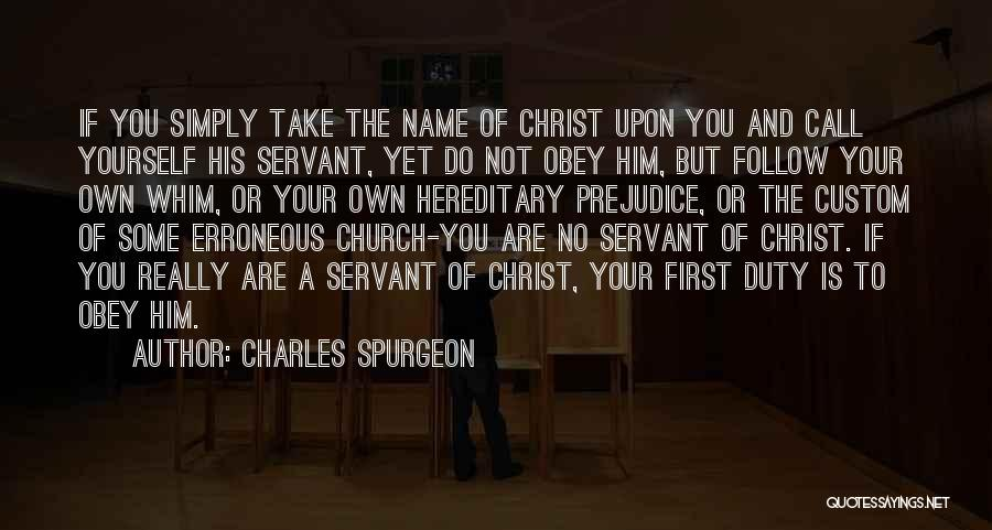Call Of Duty Quotes By Charles Spurgeon