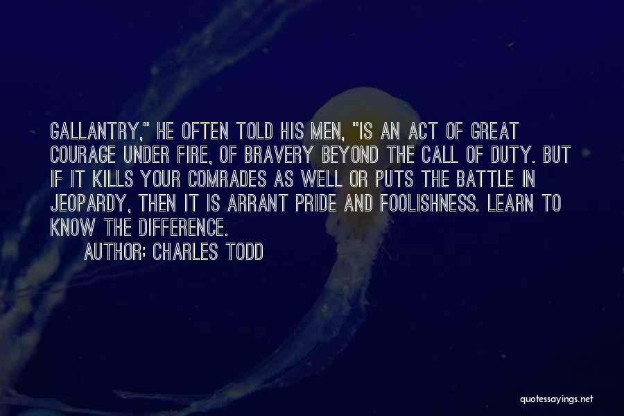 Call Of Duty Quotes By Charles Todd