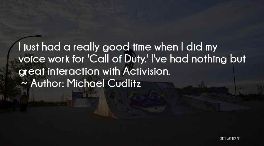 Call Of Duty Quotes By Michael Cudlitz
