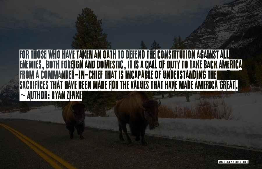 Call Of Duty Quotes By Ryan Zinke