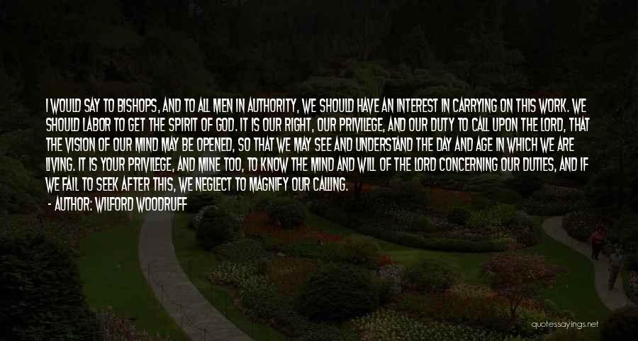 Call Of Duty Quotes By Wilford Woodruff