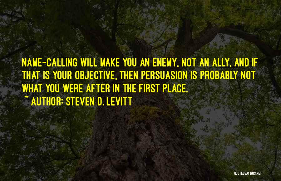 Calling Your Name Quotes By Steven D. Levitt