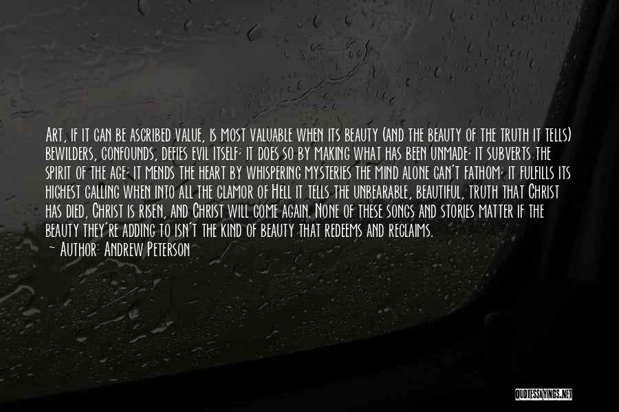 Calling Yourself Beautiful Quotes By Andrew Peterson