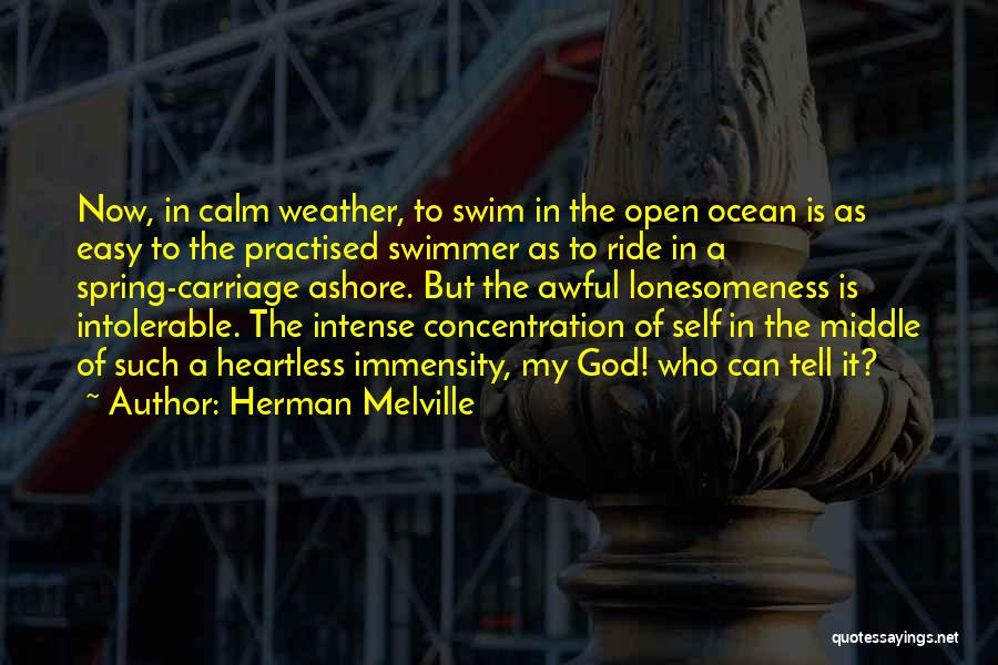 Calm Ocean Quotes By Herman Melville