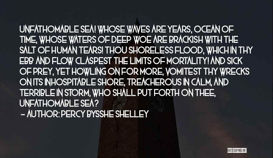 Calm Ocean Quotes By Percy Bysshe Shelley
